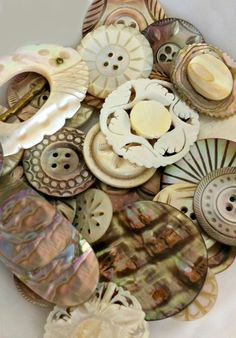 Intricate Vintage MOP Buttons