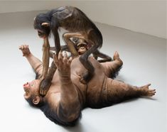 Ron Mueck has long been a favorite of the staff here at Juxtapoz, but we may have found another artist who creates some bizarre and realistic sculptures that may you stop dead in your tracks. Chicago-born, NYC-based installation and sculpture artist Tony Matelli doesn't always create sculpture works, but we collected a bunch of images of 4 significant works to show you today. He is currently showing around the US.