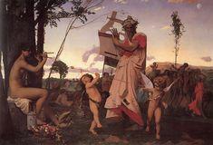 Jean-Leon Gerome (1824-1904) Anacréon, Bacchus et l'amour 1848