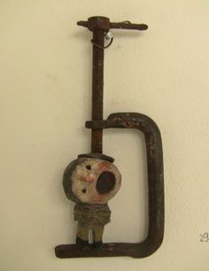 funny whimsical macabre mixed media assemblage art sculpture Les Chats Pelés | La Niche