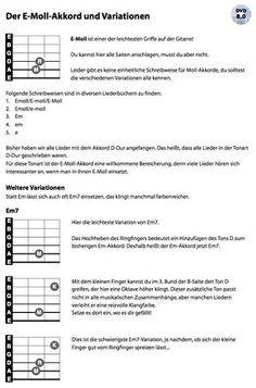 Ein neuer, aber sehr leichter Akkord: E-Moll und ein paar gängige Variationen. Hier der Link zum Video: http://www.guitar-tv.de/akkord-em-und-variationen.html