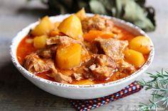 Sauté de veau aux pommes de terre et carottes