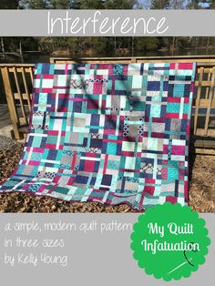 Interference and a New Venture comes in 3 sizes.something for every bed.Great quilt pattern love the layout.