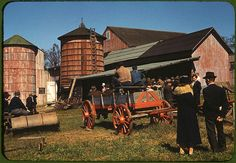 *Farm auction. Derby, Connecticut, September 1940. Reproduction from color slide. Photo by Jack Delano. Prints and Photographs Division, Library of Congress