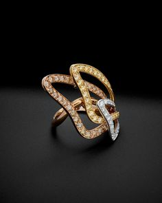 Luca Carati 18K Tri-Tone 2.43 ct. tw. Diamond Ring