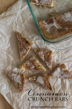 Cinnamon Crunch Bars | Yummy and so easy to make! #bHomeApp