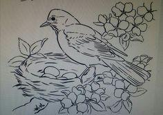 Pássaro  no ninho tp