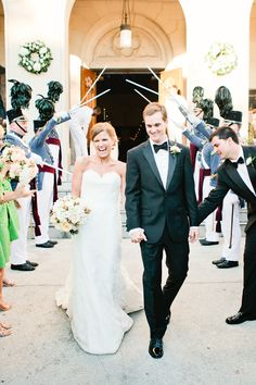 military sword arch! | Love, The Nelsons #wedding