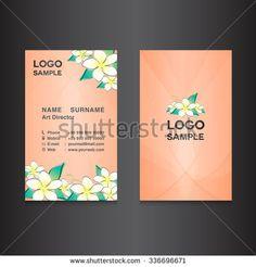 Flower Yellow Business Card DesignCard Design Vector