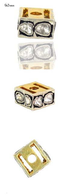 Findings and Stampings 165142: 9X5 Rose Cut Dimoand 925 Sterling Silver Spacer Finding Vintage Inspired Jewelry -> BUY IT NOW ONLY: $97.75 on eBay!