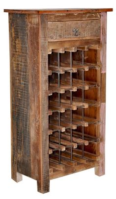 Vintage Wine Zin Home Vintage Reclaimed Wine Cabinet Lauri Williams via Michele Cheatwood - Home Bar Furniture, Pallet Furniture, Rustic Furniture, Wood Projects, Woodworking Projects, Wine Rack Cabinet, Barris, Pallet Wine, Wine Display