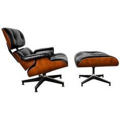 Rosewood Lounge Chair and Ottoman, Charles and Ray Eames, Herman Miller, 1960