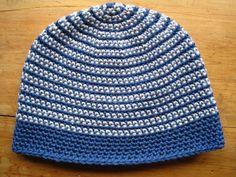 Moriarty: two colour stripe crochet beanie (free pattern)