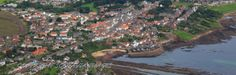 Crail on the coast of Fife..Aerial photograph Scotland.Prints 18x12 £25 24x16 £35 same size on canvas ready to hang £60. Order via website www.scotaviaimages.co.uk