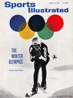 Sports Illustrated cover featuring Buddy Werner for the 1964 Winter Olympics in Innsbruck, Austria.  Photo:  Richard Jeffrey