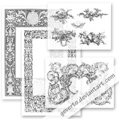 FREE vintage borders, borders, frames, ornaments, free, clipart, clip art