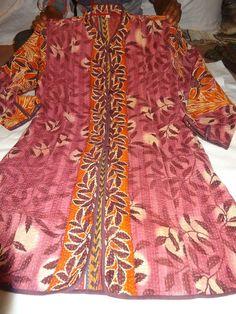 Vintage kantha jackets, kantha quilted jackets, women kantha jackets, reversible #Handmade #vintagejackets