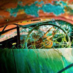 farm shed landscape Old Vintage Cars, Retro Vintage, Vintage Trucks, Dark Interiors, Colorful Interiors, Wabi Sabi, Shed Landscaping, Farm Shed, How To Remove Rust