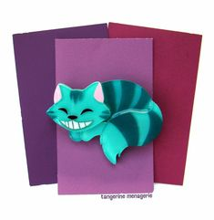 The Cheshire Cat from Alice in Wonderland Vintage-Inspired Novelty Brooch Cat Jewelry, Animal Jewelry, Jewellery, Alice In Wonderland Vintage, The Cheshire, Mad Hatter Tea, Brooches Handmade, Cat Crafts, Pin And Patches