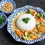 Gelbes Thai-Curry mit Erdnussbutter   Madame Cuisine Rezept