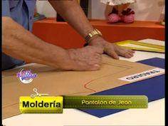 369 - Bienvenidas TV - Programa del 04 de Diciembre de 2013  trazado del pantalón de dama de Jean.