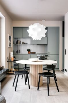 8 Fascinating Clever Tips: Minimalist Kitchen Small Shelves classic minimalist interior architecture.Minimalist Kitchen Table Furniture traditional minimalist home ceilings.Minimalist Interior White Home Decor. Dining Room Lighting, Apartment Interior, Interior Design Kitchen, Dining Room Design, Dining Room Decor, Minimalist Dining Room, House Interior, Interior, Home Decor
