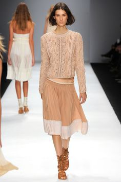 Crochet (with overlays? This one is super tricky!) on the runway -- Vanessa Bruno SS13 RTW