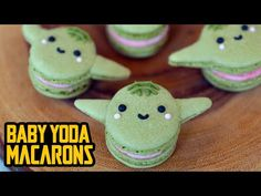 Rosanna makes Baby Yoda Macarons on Nerdy Nummies to celebrate Macaron Cookies, Macaron Recipe, Macarons, Raspberry Buttercream, Buttercream Filling, Star Wars Birthday, Star Wars Party, Nerdy Nummies Cookbook, Yoda Cake