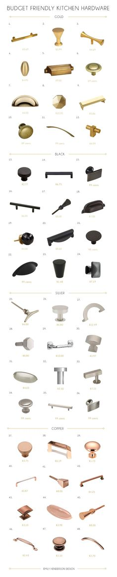 48 Budget Friendly Kitchen Hardware Knobs and Pulls
