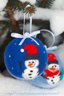 Felt Ornaments, Christmas crafts, Beautiful vintage bulb, новогодние игрушки, ёлочные шарики, шарики из шерсти