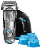 Best electric shavers of 2015 Braun shaver with cleaning station.