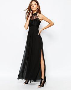 Imagen 1 de Vestido largo negro de BCBGeneration