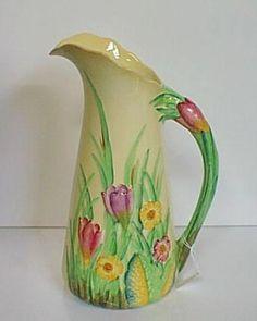 Carltonware Crocus jug Another 'FAV'. Vintage Crockery, Vintage China, Vintage Ceramic, Vintage Antiques, Retro Vintage, Ceramic Decor, Ceramic Pottery, English Pottery, Carlton Ware