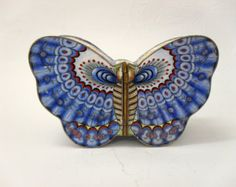 Rare Vintage/Antique Chinese Enamel Butterfly Style Trinket Box/Accessories Box/Jewlery Box