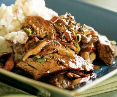 BEER-BRAISED SIRLOIN TIPS WITH MUSHROOM SAUCE: ~ From: Fine Cooking.Com. By: Molly Stevens. Servings: (4). ~ Serve with buttery mashed potatoes.