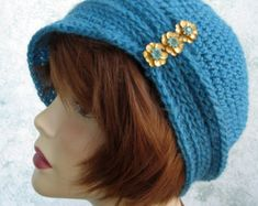 Brimmed Crochet Hat Pattern Cloche With Flower by kalliedesigns