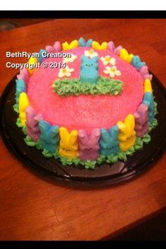 Easter Peeps Cake / Peeps Daisy Bunny Cake