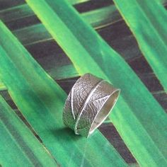 Leaf ring sterling silver by SilverlyJewelry for $59.00