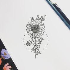 See this Instagram photo by @nathalybonilla sunflower sunflowertattoo tattoo linework flower floral floraltattoo botany #flowertattoos