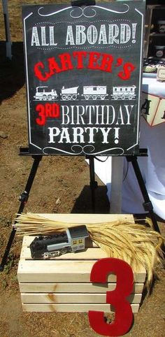 Fun Decorations At A Vintage Train Birthday Party See More Ideas CatchMyParty