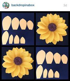 64 Trendy ideas for baby room art tissue paper Paper Sunflowers, Giant Paper Flowers, Felt Flowers, Diy Flowers, Sunflower Birthday Parties, Sunflower Party, Sunflower Baby Showers, Jasmin Party, Sunflower Template