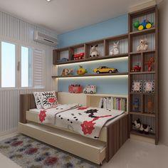 Shelving for small bedroom, bedroom decor idea ideas Kids Bedroom Designs, Boys Bedroom Decor, Small Room Bedroom, Bedroom Sets, Girls Bedroom, Master Bedroom Design, Decoration Originale, Boy Room, Brimnes