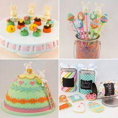 doces decorados para decorar a mesa e presentear na páscoa por cake design