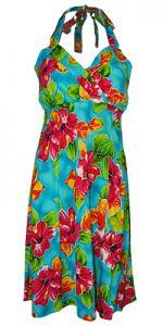 Napali Hoopla Blue Hawaiian Dress