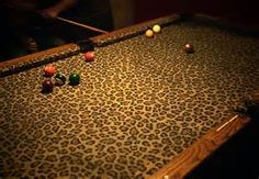 Leopard-Skin Pool Table