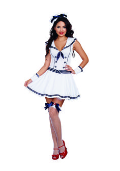 This cute Boat Rockin' Sailor Babe costume is an excellent choice. - White…