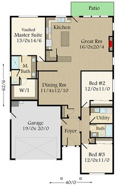 Option-Filled Exclusive 3-Bed Modern Farmhouse Plan - 85257MS floor plan - Main Level