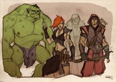 Sweet reimagining of the Avengers. Not my work (they were done by Dennis Medri) but I wish it was.