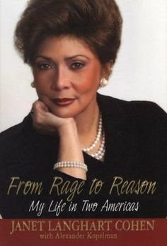 From Rage To Reason: My Life in Two Americas by Janet Cohen Langhart #Book #JanetLanghartCohen