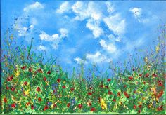 Summertime. Acrylic on canvas. See more at https://www.artfinder.com/tina-hiles